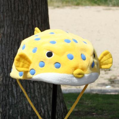 オリジナル制作(オーダーメイド)帽子 イエローハコフグ帽子-3