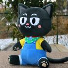 オリジナル制作ぬいぐるみ キャラクター ワクドキ勉強中のネコ