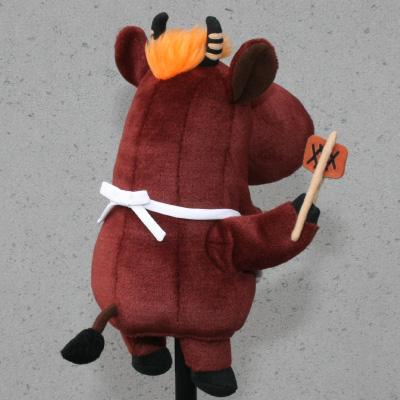 オリジナル制作(オーダーメイド)あやつり人形 お肉屋さんのひとり焼肉キャラクター-3